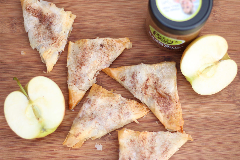 apple hand pies made with Betsy's Best Gourmet Almond Butter