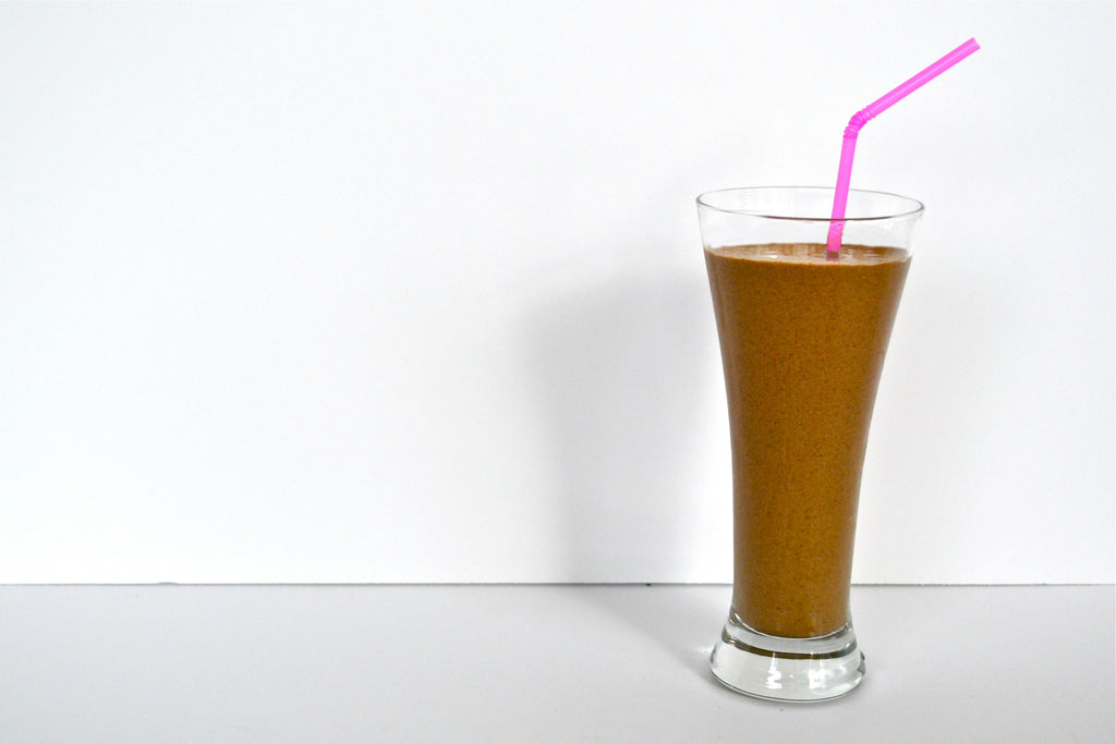 Simple and healthy, try Betsy's creamy chocolate hazelnut smoothie recipe