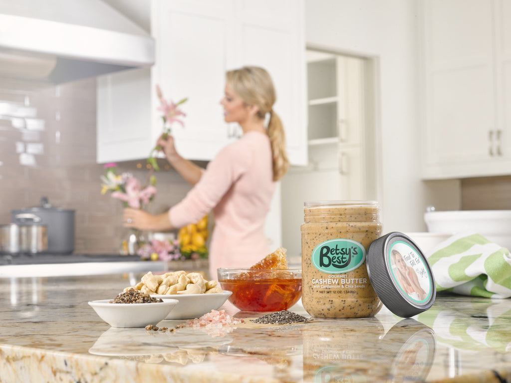 Betsy's Best Gourmet Cashew Butter features a spice called cardamon