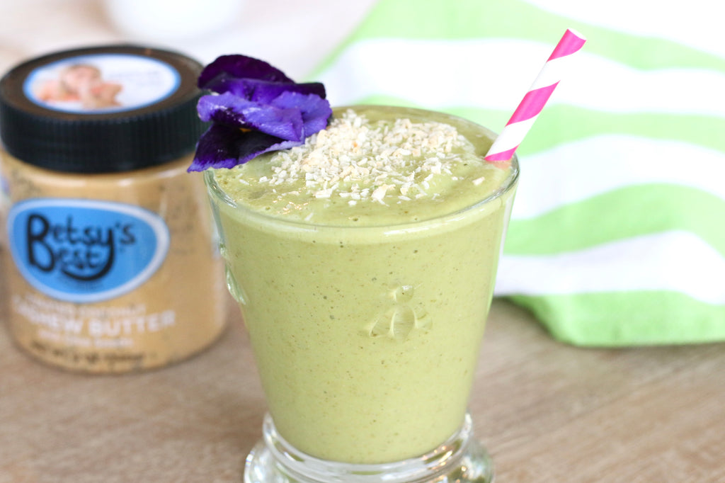 Matcha Latte Smoothie featuring Toasted Coconut Cashew Butter
