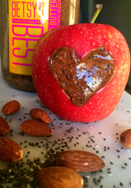 Gourmet nut butter is the perfect pairing for an apple slice