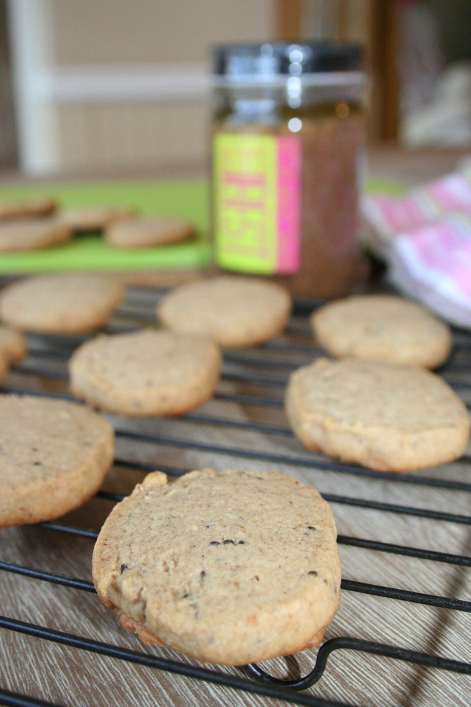 A healthy peanut butter shortbread cookie