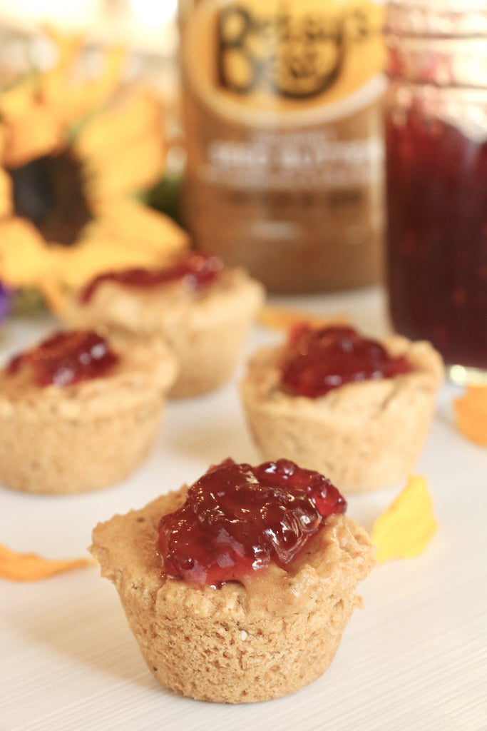 Betsy's PB&J Cookie Bites made with Betsy's Best Gourmet Sunflower Seed Butter