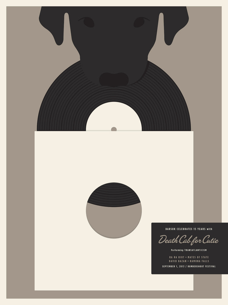 Barsuk 15 - Death Cab For Cutie Poster by Jason Munn