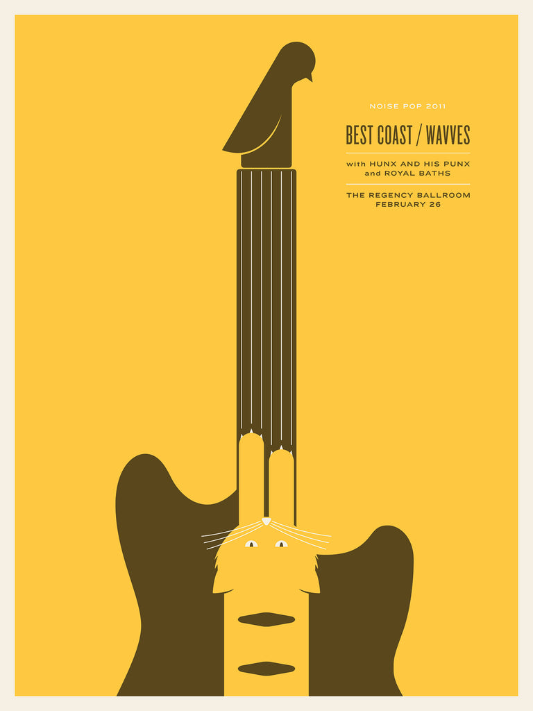 Best Coast / Wavves Poster by Jason Munn