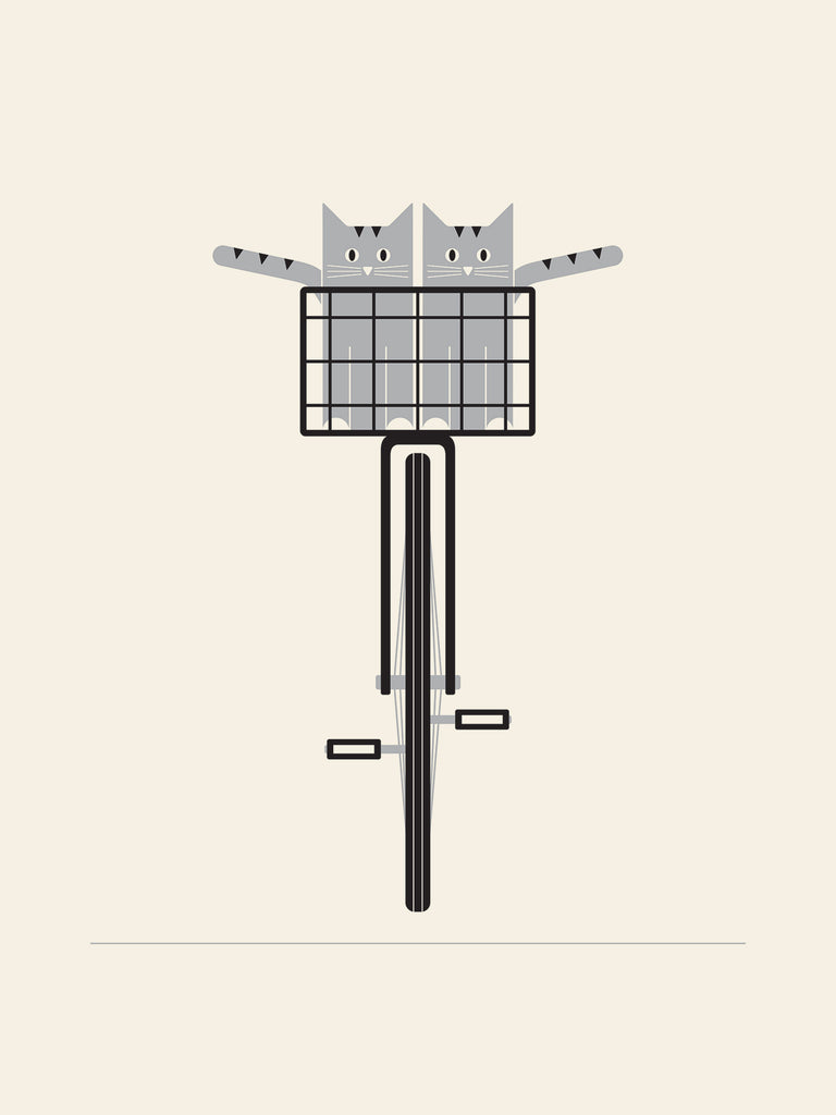 Bike & Cats Poster by Jason Munn