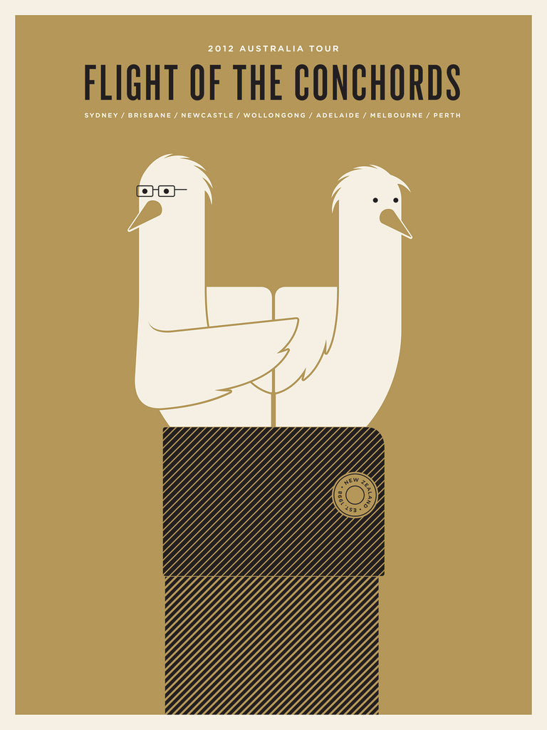 Flight of the Conchords Poster by Jason Munn