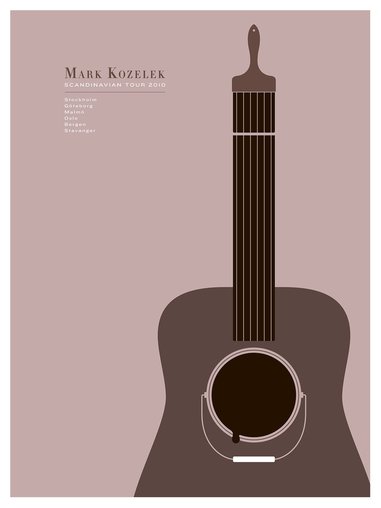 Mark Kozelek Poster by Jason Munn