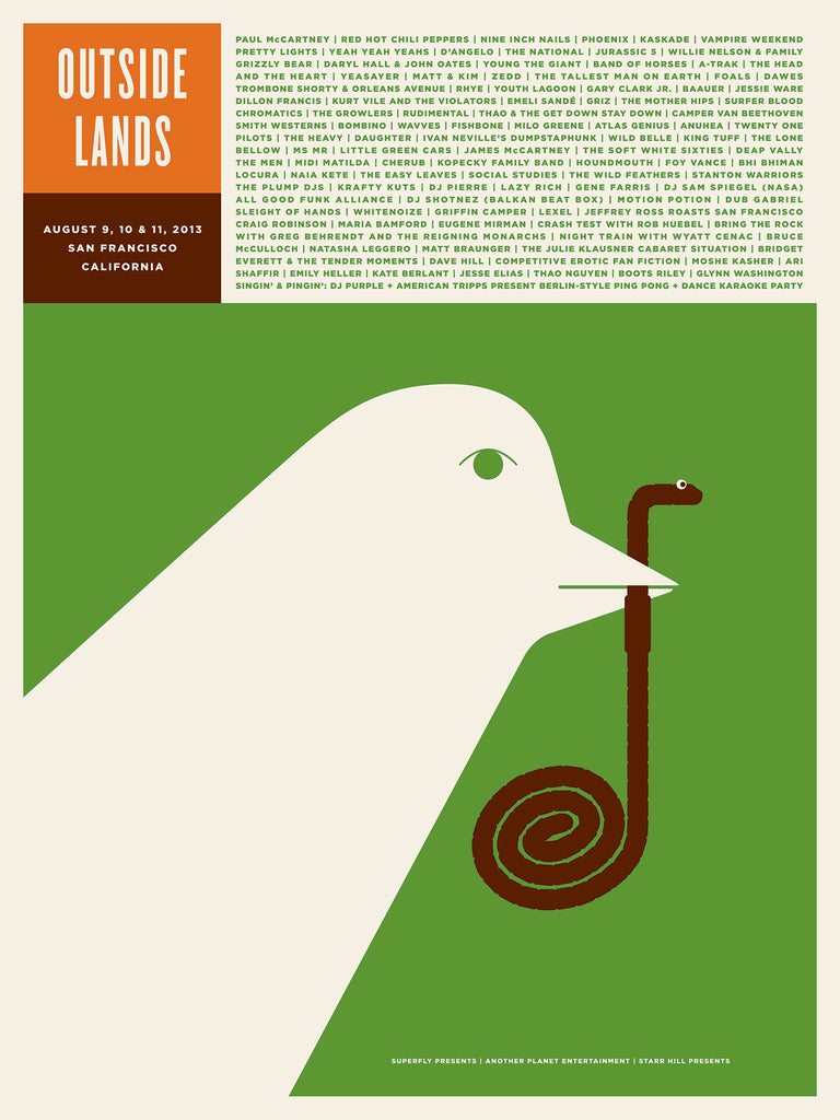 Outside Lands Poster by Jason Munn