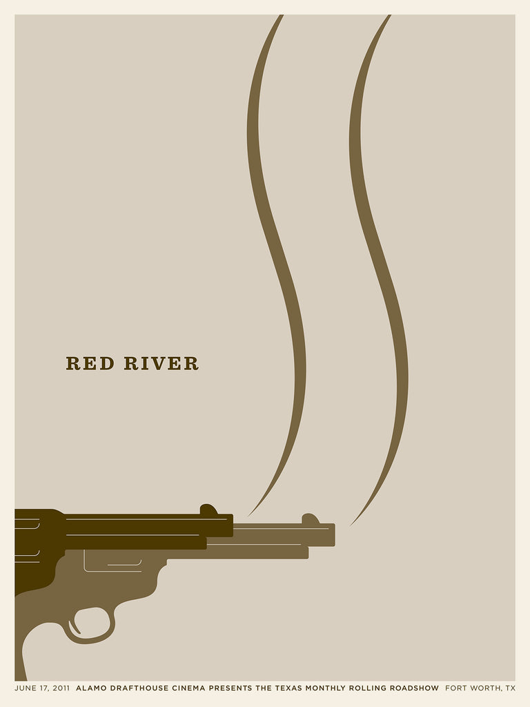 Red River Poster by Jason Munn