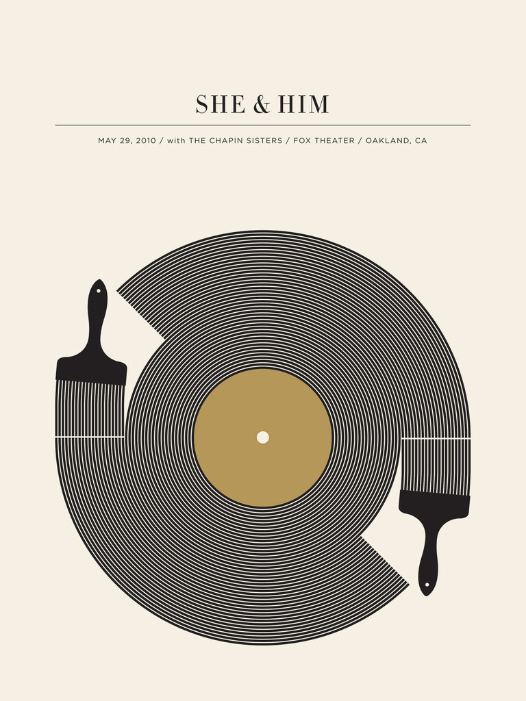 She & Him Poster by Jason Munn