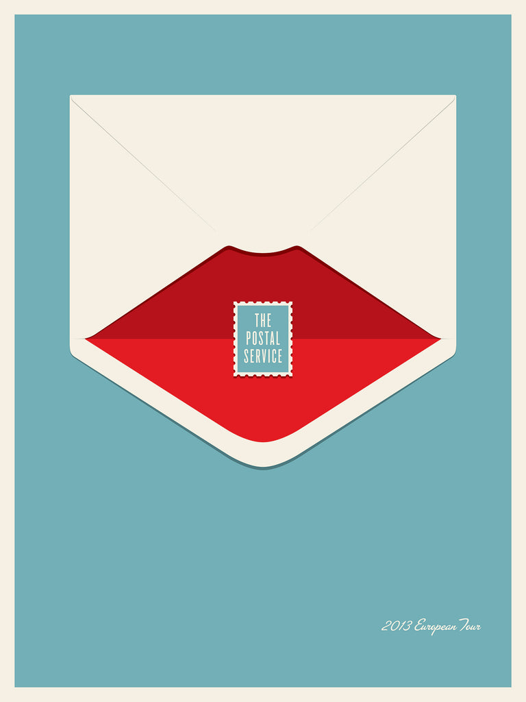 The Postal Service - Europe Tour Poster by Jason Munn