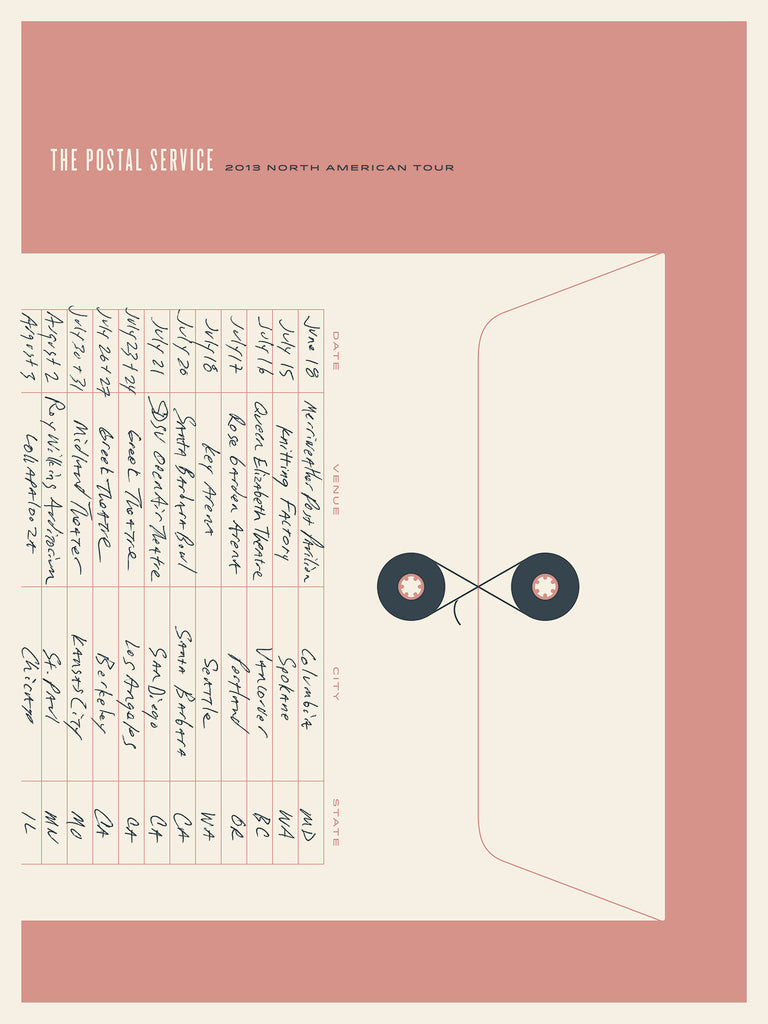 The Postal Service - Tour 3 Poster by Jason Munn