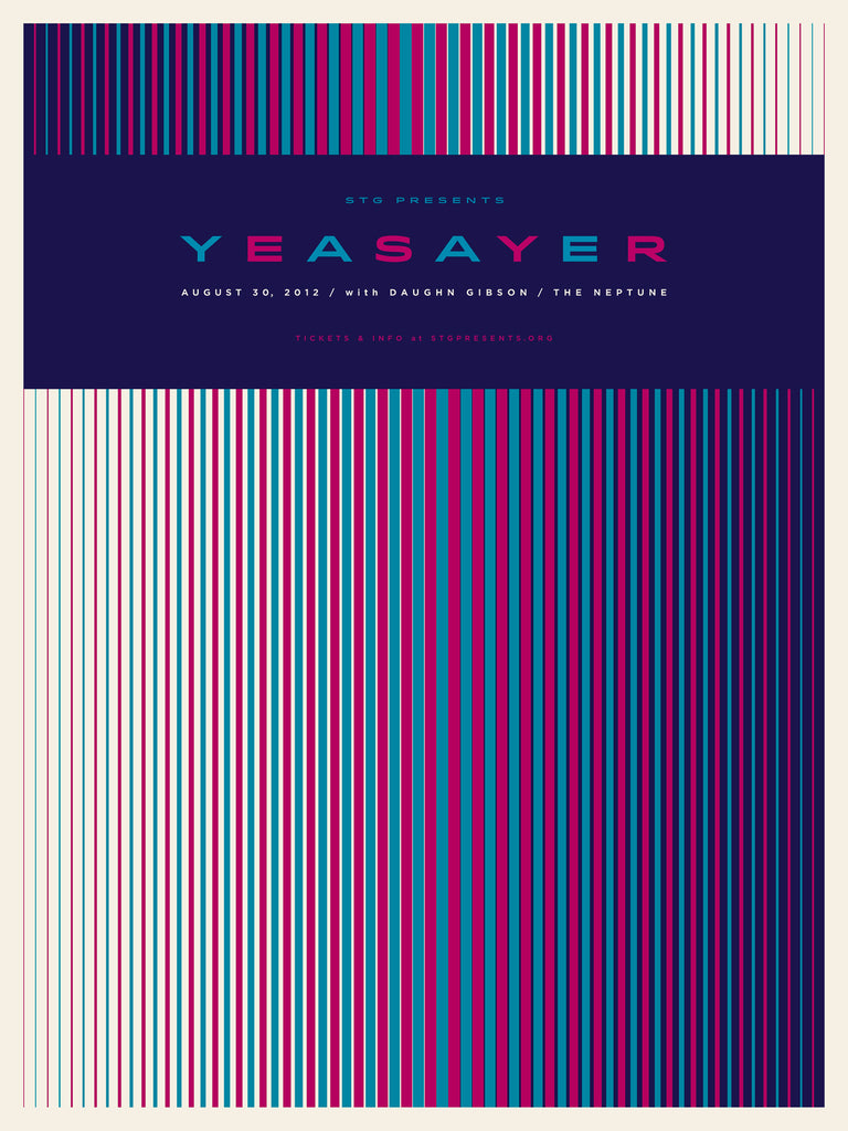 Yeasayer Poster by Jason Munn