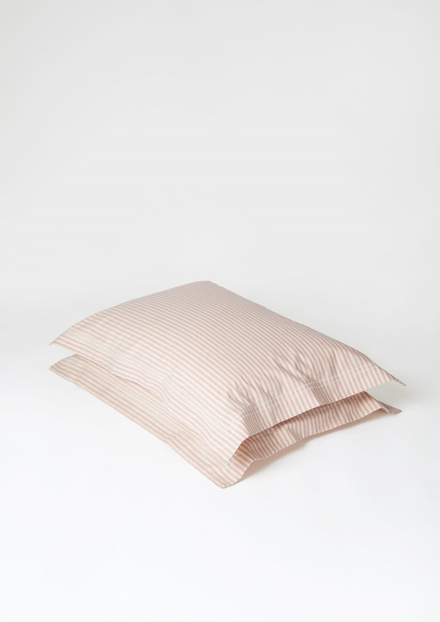 Organic Cotton Ticking Stripe Pillowcase | Ecru/Rose  ?id=27947028512802