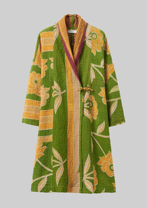 Recycled Kantha Gown | Greens ?id=16768499515426