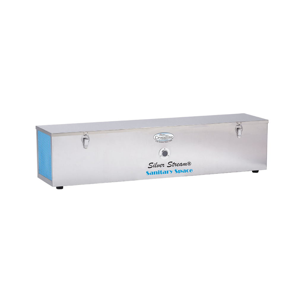 The Silver Stream® Sani Space Room Air Disinfection to protect occupants including but not limited to personnel, clients and patients from infection due to airborne microbes, particularly in crowded or poorly ventilated areas, and in situations where the risk of cross infection is high.