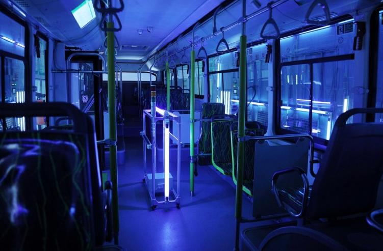 SILVER STREAM has designed the most scientifically advanced public transport UV disinfection system for disinfection of the bus interiors and exteriors . The process of bus disinfection can be completed in 5 to 7 minutes per bus and kills more than 99.9 per cent of viruses including COVID19.
