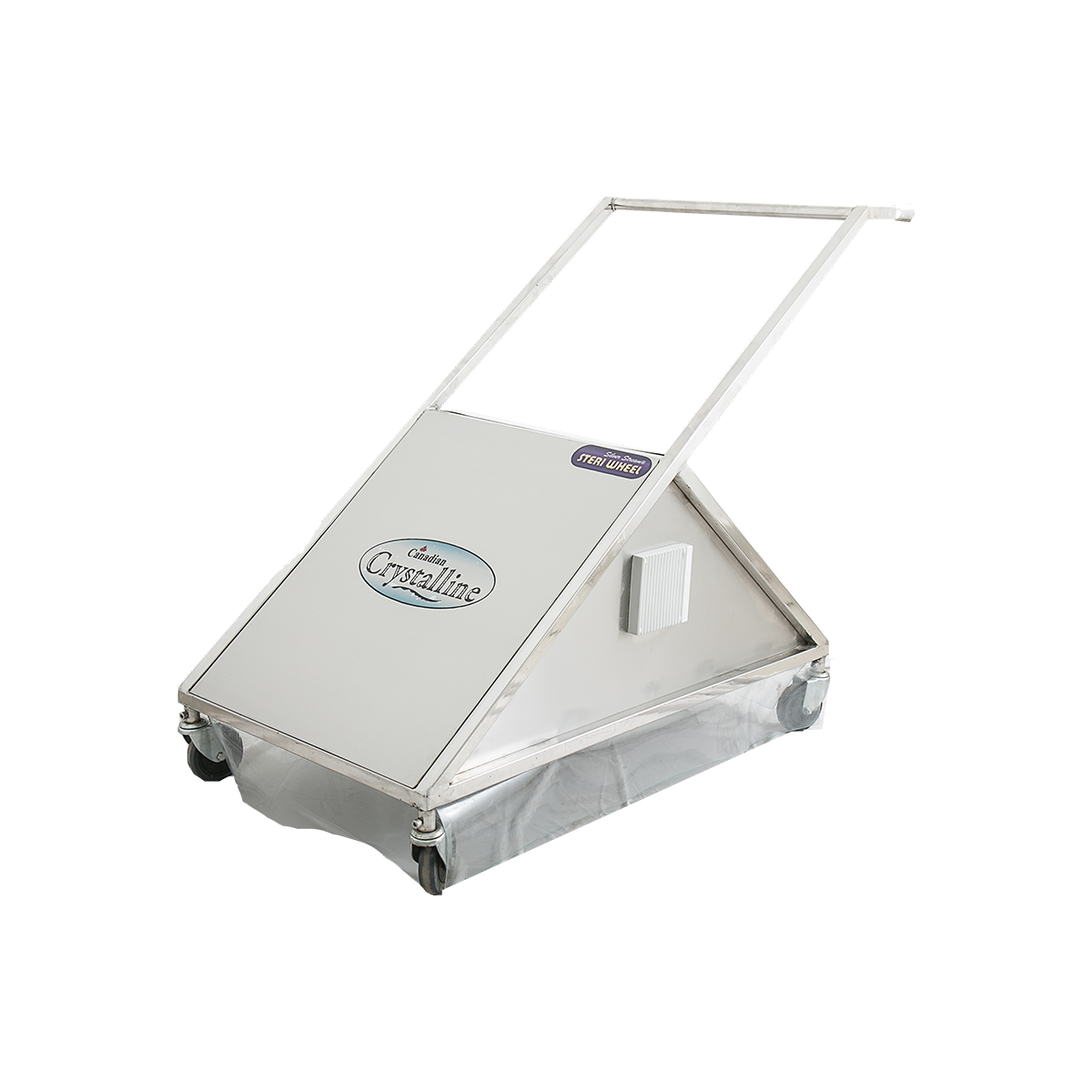 The Silver Stream® Steri Wheel which is a mobile disinfection unit on wheels disinfects the surface of hospital floor with a width of 2 or 3 feet. The radiation from this unit are enormously powerful and kills anything in its path. The unit can be moved up and down on designed paths by a Hospital maintenance personnel.