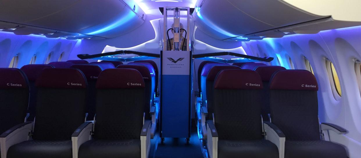Aircrafts are built to be compact so walkways and space between seating restrict easy movement which leads to high surface contact by people. As much as aircrafts transport in numerous number of people, it also carries infinitely more germs. Silver Stream® Steri Wings is the solution to a clean and safe flying experience. Silver Stream® Steri Wings has been designed and built specifically for the interior of an Airplane.