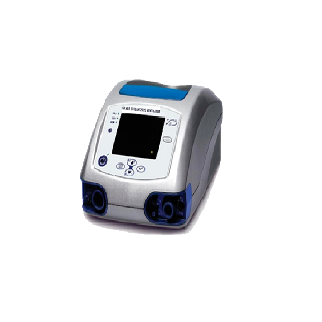Lightweight and compact, the Silver Stream®️ 2020 Ventilator helps enable patients to live with greater independence while providing caregivers with the peace of mind that comes with a reliable and trusted ventilation system with a long battery life.