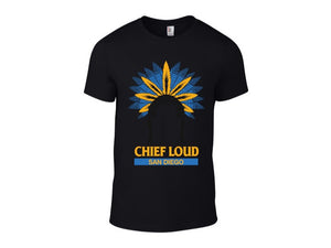 CHIEF LOUD SAN DIEGO POWDER BLUE LOGO 50/50 Short Sleeve Tee - Chief Loud