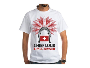 CHIEF LOUD SWITZERLAND 50/50 Short Sleeve Tee - Chief Loud