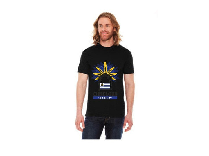 CHIEF LOUD URUGUAY 50/50 Short Sleeve Tee - Chief Loud