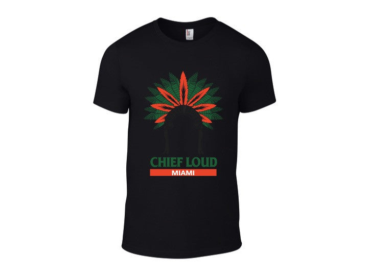 CHIEF LOUD MIAMI GREEN/ORANGE 50/50 Short Sleeve Tee - Chief Loud