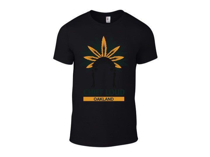 CHIEF LOUD OAKLAND 50/50 Short Sleeve BlackTee - Chief Loud