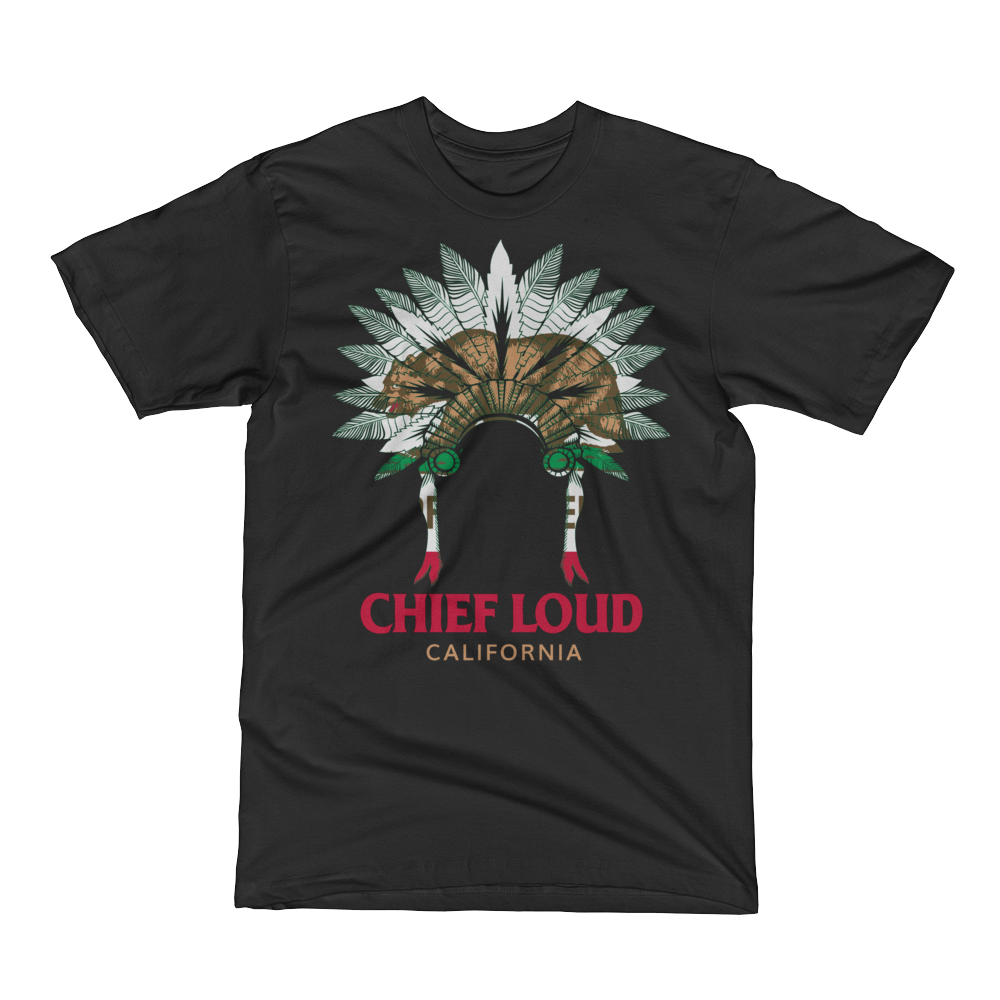 CHIEF LOUD CALIFORNIA Short Sleeve T-Shirt - Chief Loud