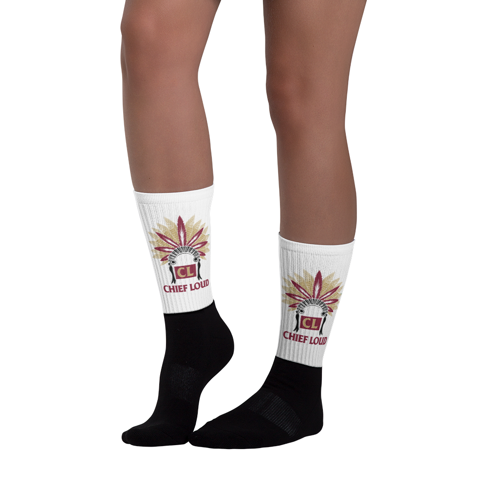 CHIEF LOUD TALLAHASSEE Black foot socks - Chief Loud
