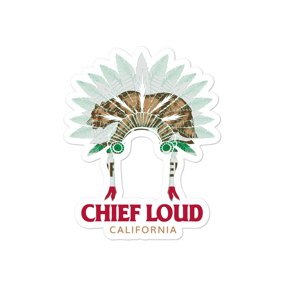 CHIEF LOUD CALIFORNIA Bubble-free stickers - Chief Loud