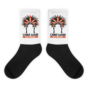 CHIEF LOUD BALTIMORE Black foot socks - Chief Loud