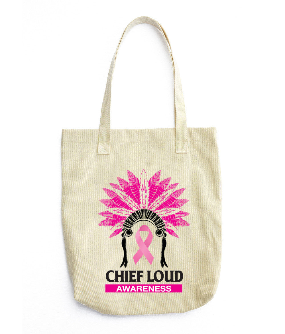 CHIEF LOUD BREAST CANCER AWARENESS Tote bag - Chief Loud