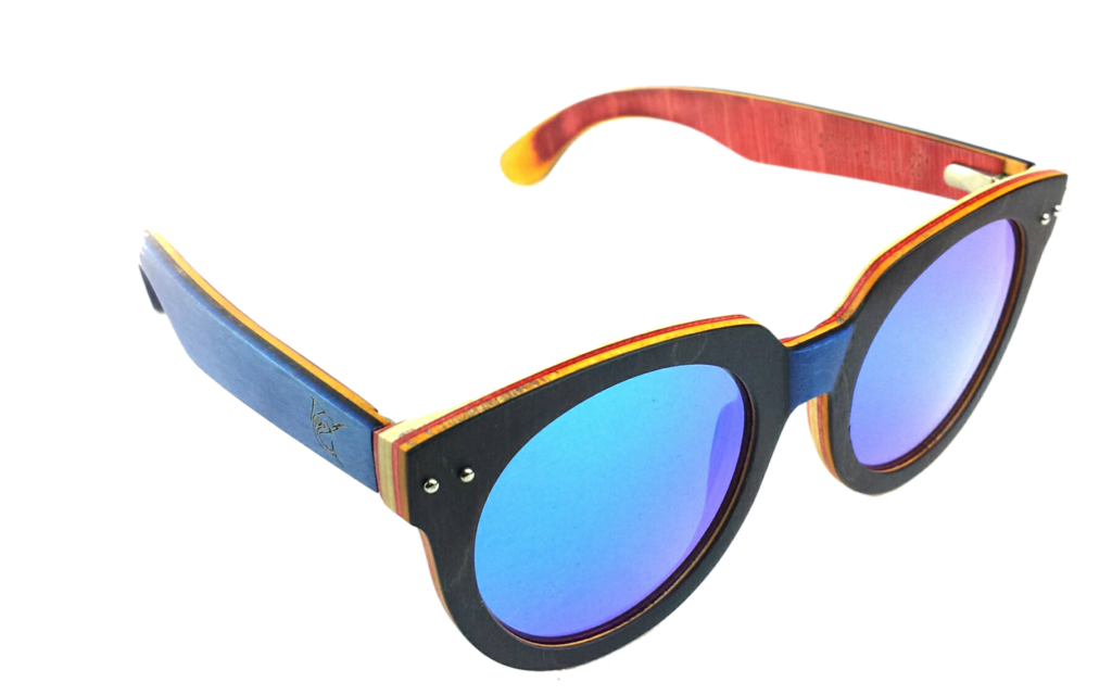 lobo-sportfishing - LPG Apparel Co. BLUE LAGOON Mirrored Polarized Wood Sunglasses - LPG Apparel Co. - Apparel