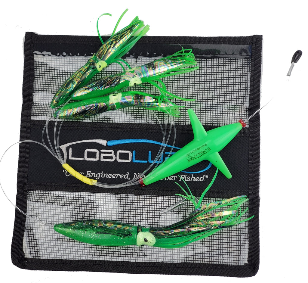 Lobo Lures #217 Squid Chain with Teaser Bird Trolling Daisy Chain