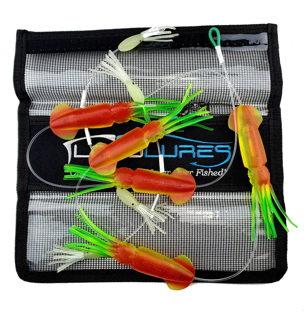 SquidNation Game  Gamefish Mini Tuna Flippy-Floppy Thing Daisy Chain Marlin Fishing Lure, Marlin Lures, Tuna Lures
