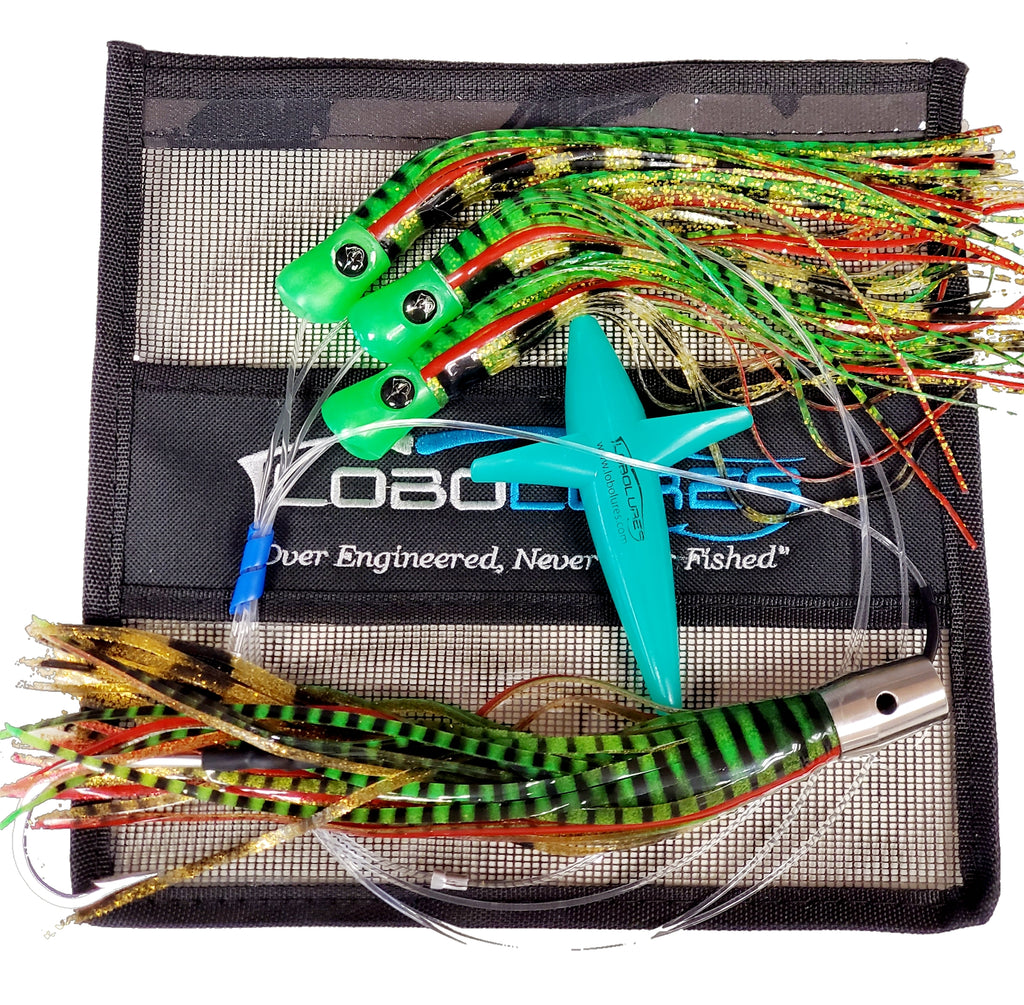"Lobo Lures #221 Tuna Magic Skipjack Hybrid UV 12"" Jet Head Daisy Chain Tuna Lures, Bost Lures, Magbay Lures, Black Bart Lures, USA Made Lures, Big Game Lures, Marlin Lures, Bluefin Tuna Lure"