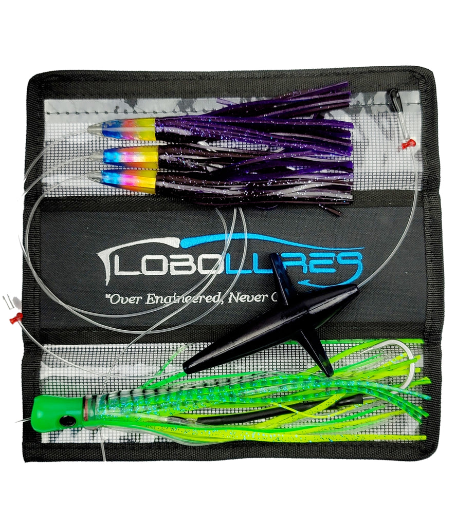 Lobo Lures #206 Carolina Skipjack Hybrid UV Bullet Daisy Chain, tuna lure, bigeue tuna, tuna fishing, big game fishing, tournament lures