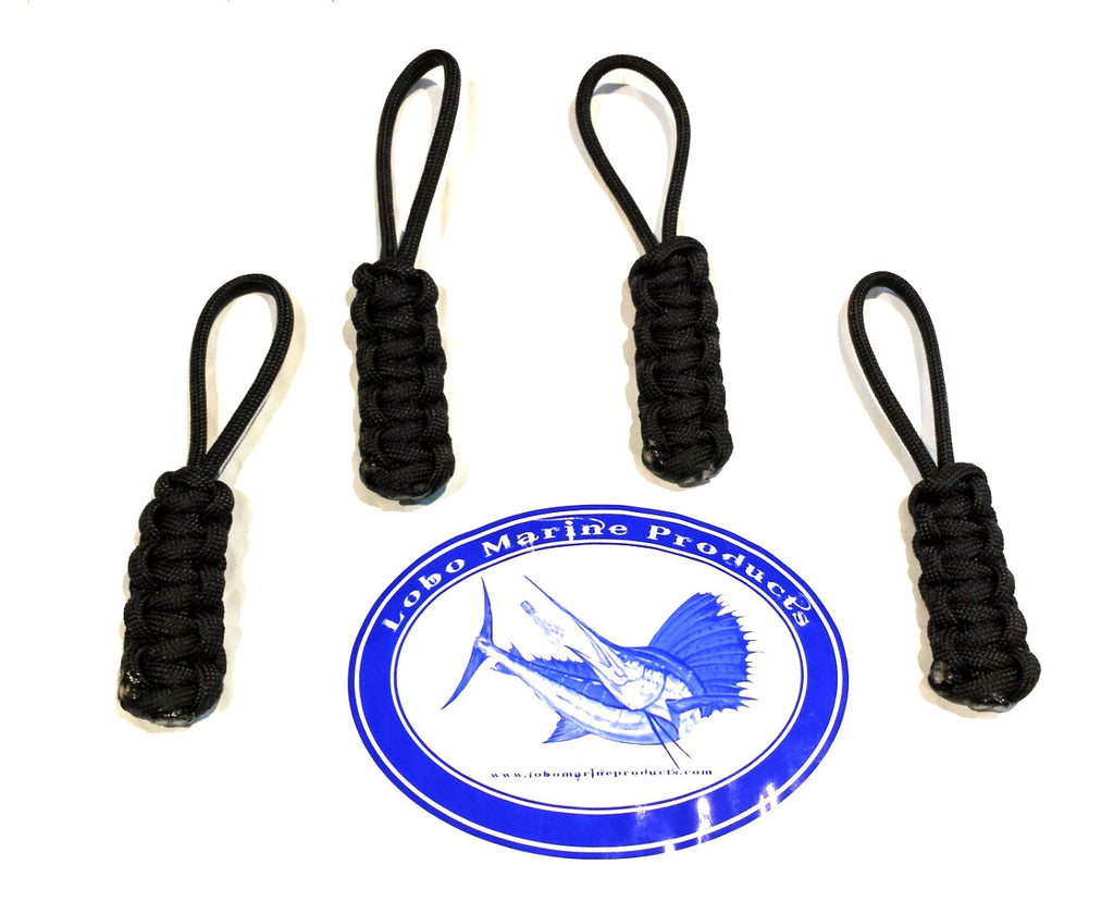lobo-sportfishing - Lobo Lures Jeep and Boat Enclosure Paracord Zipper Pulls 4 & 10 Pack - Lobo Marine Products LLC. - Apparel
