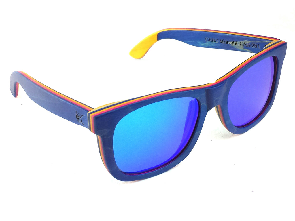 LPG Apparel Co. CABO Mirrored Polarized Wood Sunglasses