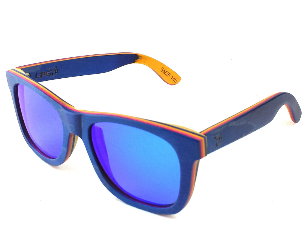 lobo-sportfishing - LPG Apparel Co. CABO Mirrored Polarized Wood Sunglasses - LPG APPAREL CO -