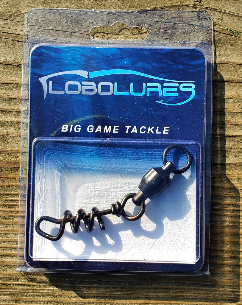 Lobo Lures Medium 450lb Quick Release Heavy Duty Ball Bearing Dredge Corkscrew Swivel for Big Game Trolling Lures, Marlin Fishing Squidnation Dredges AMAZON PRIME