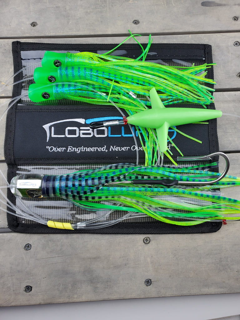 Lobo Lures #200_GL Super Glow Bigeye Pelagic Magic Big Game Fishing Daisy Chain