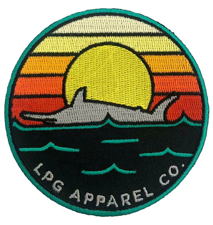 "LPG Apparel Co. Retro Marlin Iron-onm 3.25""  Patch, Fishing patch, Marlin Patch, Lobo Lures Patch, Boat Bag Patch, Fishing Patch, Fishing Patches"