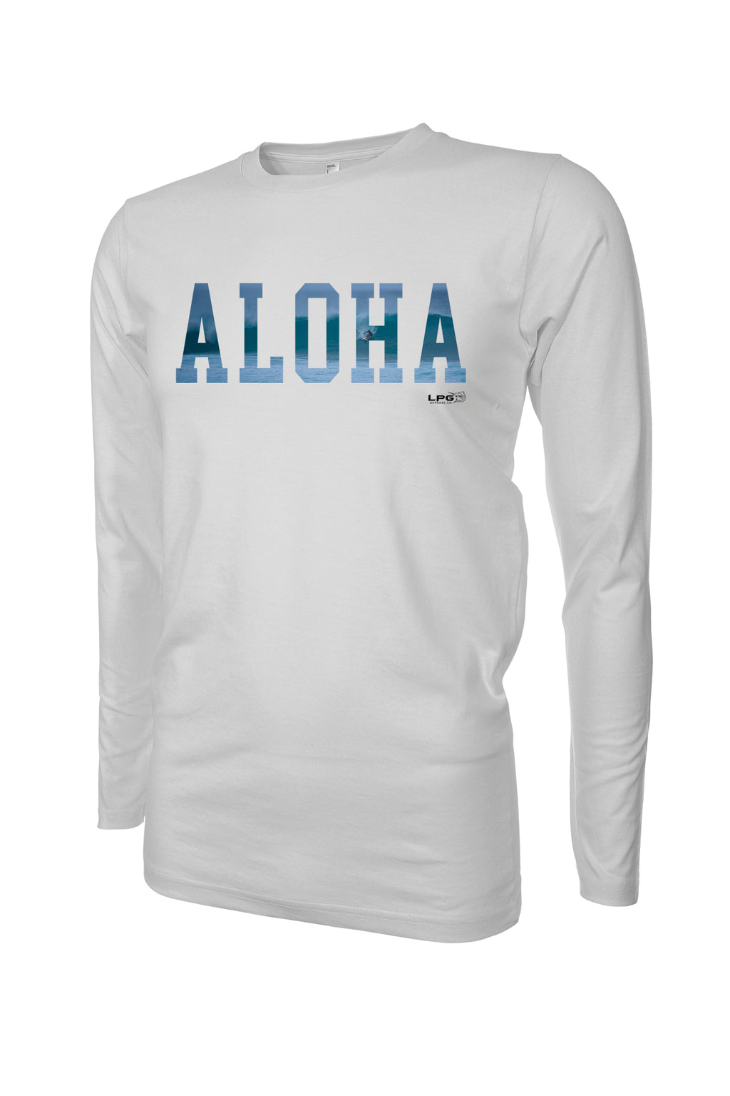 LPG Apparel Co. ALOHA Pipeline Surfer  Rashguard LS Performance UPF 50 Unisex Shirt