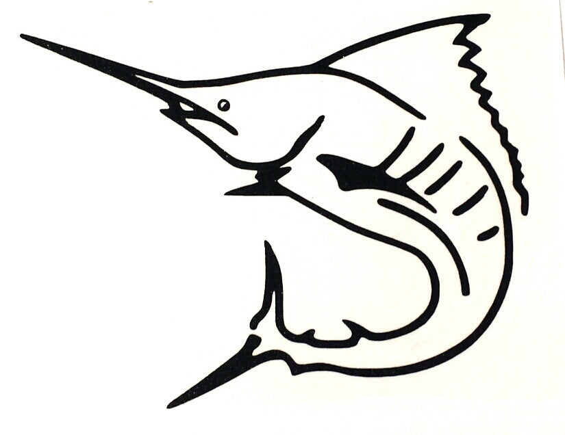 lobo-sportfishing - Marlin Skeleton Vinyl Decals - Lobo Marine Products LLC. - Decals