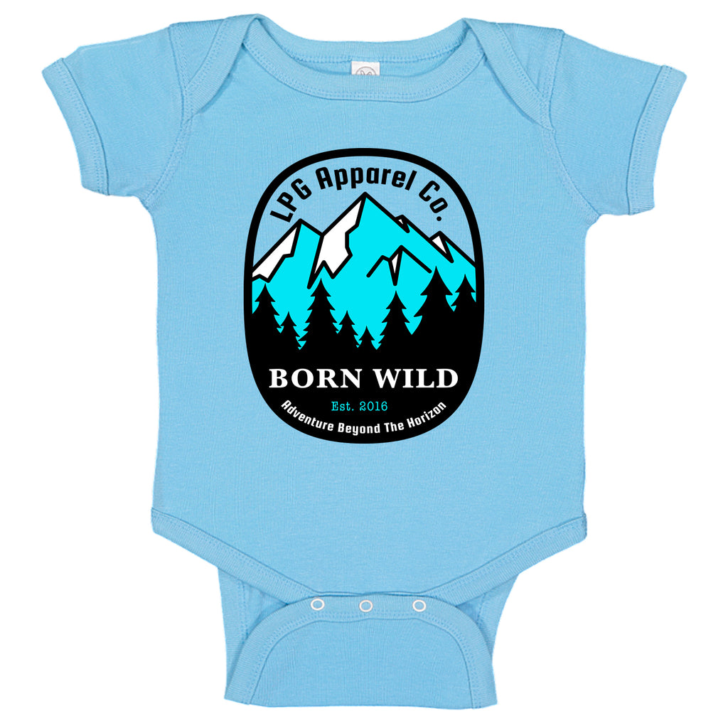 lobo-sportfishing - LPG Apparel Co. Born Wild Mountineer Baby One-piece Romper - LPG Apparel Co. - Apparel