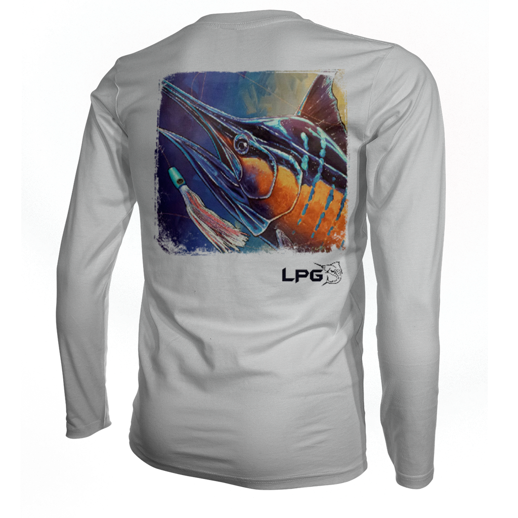 lobo-sportfishing - LPG Apparel Co. Electric Marlin Vibe Performance Shirt UPF 50 - Lobo Lures -